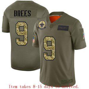 New Orleans Saints Drew Brees Jersey Camo